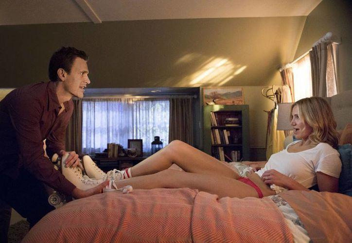 Cameron se encuentra promocionando la película 'Sex Tape' que protagoniza con el comediante Jason Segel. (AP)