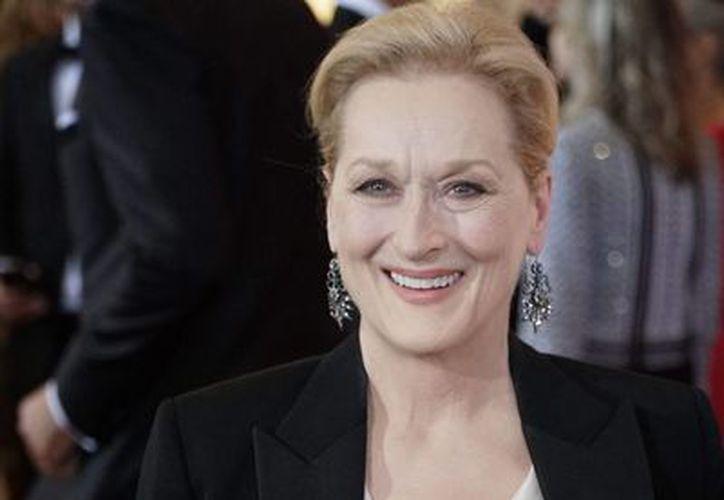 La actriz Mary Louise Streep, su nombre real, nació en Summit, Nueva Jersey, Estados Unidos, el 22 de junio de 1949. Imagen de una alfombra roja en EU. (Archivo/Agencias)
