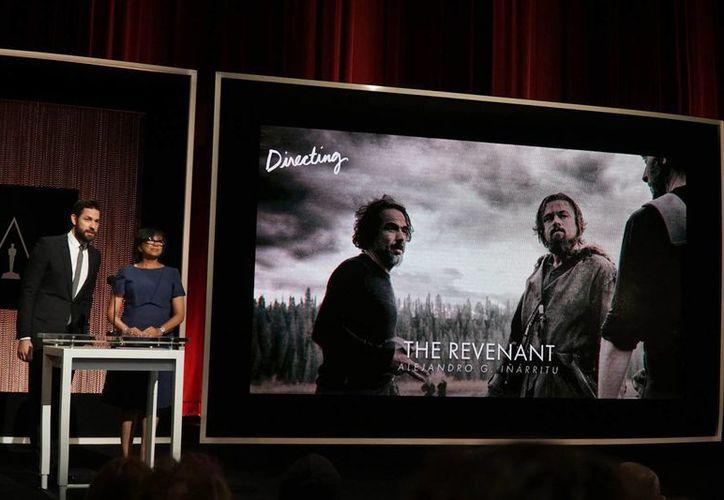 Momento de la nominación de Alejandro González Iñárritu por 'The Revenant' a los Premios Oscar que se llevarán a cabo el próximo 28 de febrero. (AP)