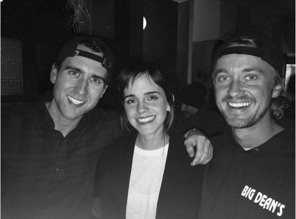 La mágica reunión de Emma Watson con dos actores de 'Harry Potter'