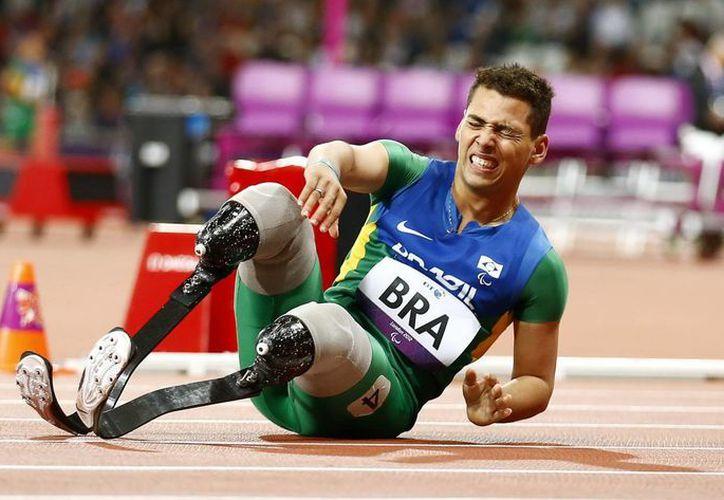 El atleta brasileño Alan Fonteles Cardoso en los Juegos Paralímpicos de Londres 2012. (EFE/Archivo)