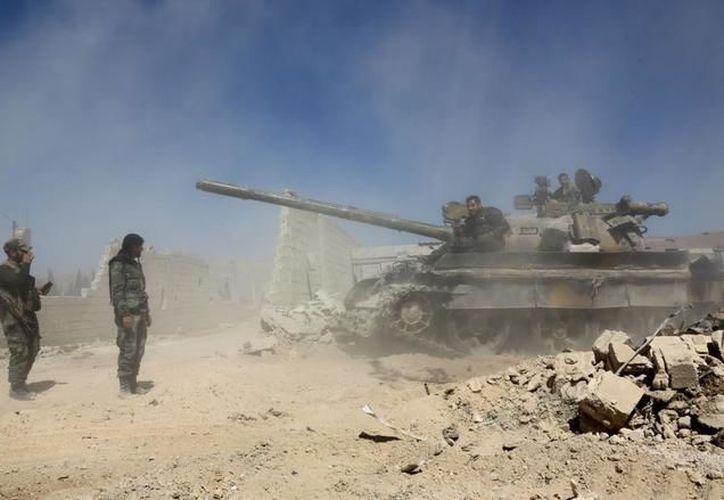 El ejército sirio atacó el barrio de Guta oriental. (AFP)