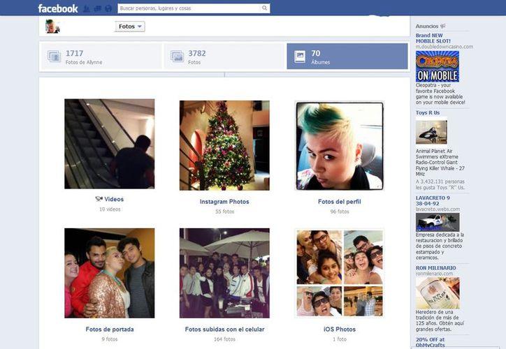 Las redes sociales se han vuelto prácticamente álbumes de fotos. (facebook.com)