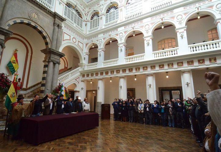 Vista del interior del Palacio de Gobierno de La Paz. (EFE)