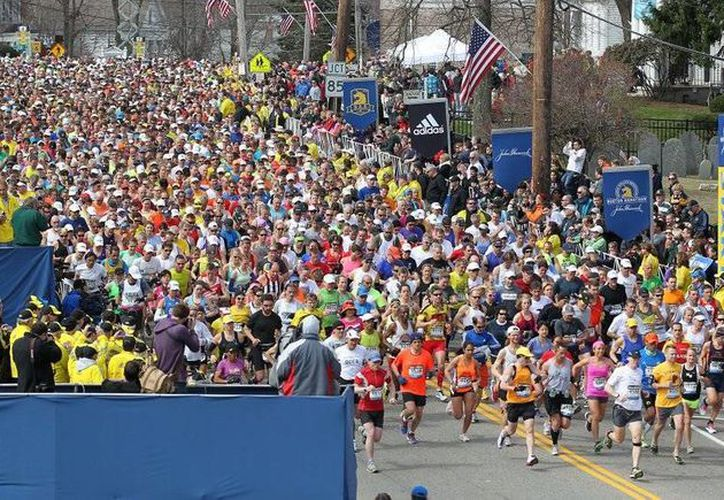 El Maratón de Boston es uno de los grandes eventos deportivos próximos que podrían verse seriamente afectados por la prohibición de Trump. (Foto de.runninglife.com.mx)