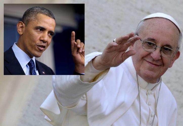 Barack Obama, se reunirá con el Papa Francisco en El Vaticano durante la visita de trabajo que realizará por Europa en marzo próximo. (Agencias)