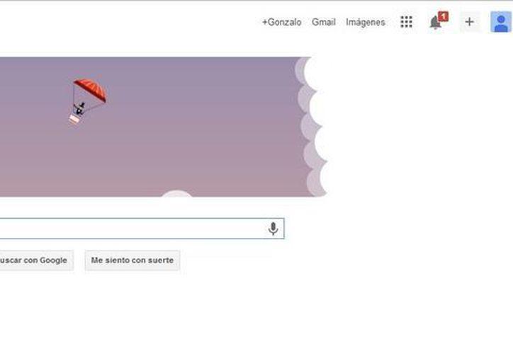 El doodle interactivo muestra un globo que asciende más allá de las nubes. (Google)