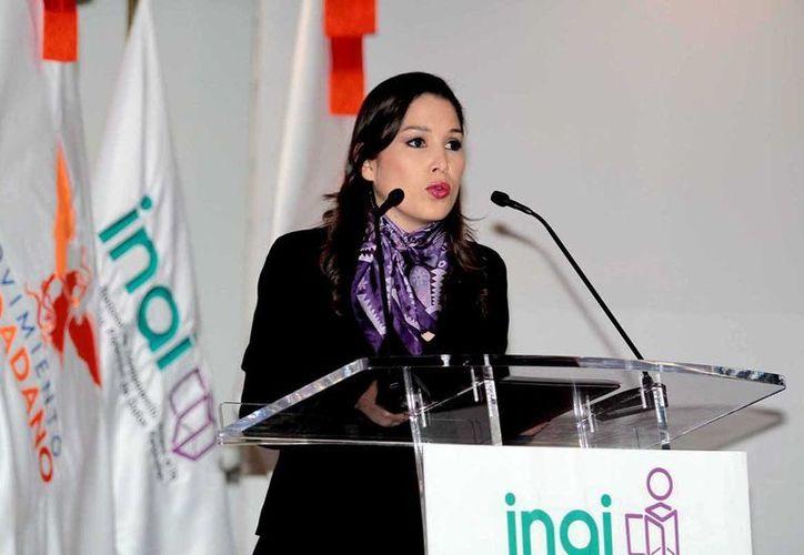 Ximena Puente, comisionada presidenta del Instituto Nacional de Transparencia, Acceso a la Información y Protección de Datos Personales. (Notimex/archivo)