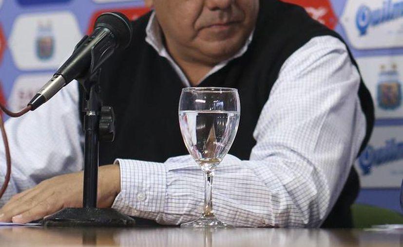 Claudio Tapia, vicepresidente de la Asociación del Fútbol Argentino (AFA), presentó su denuncia ante las autoridades mexicanas. (EFE/archivo)