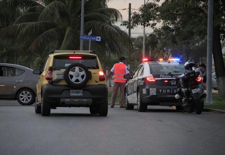 La oficina de asuntos internos está pendiente de la mala actuación de los agentes de Tránsito. (Tomás Álvarez/SIPSE)