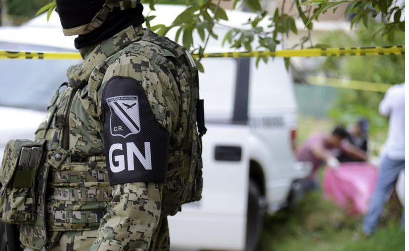 Elementos de la Guardia Nacional tomaron conocimiento del caso y realizaron una búsqueda en la zona. (Contexto: Agencia Reforma)