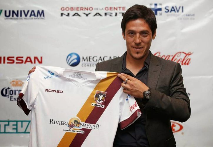 Mauro Camoranesi es el nuevo técnico de Cafetaleros de Tapachula. En la foto, con la camisa de Coras Tepic. (Foto tomada de tododefut.com)