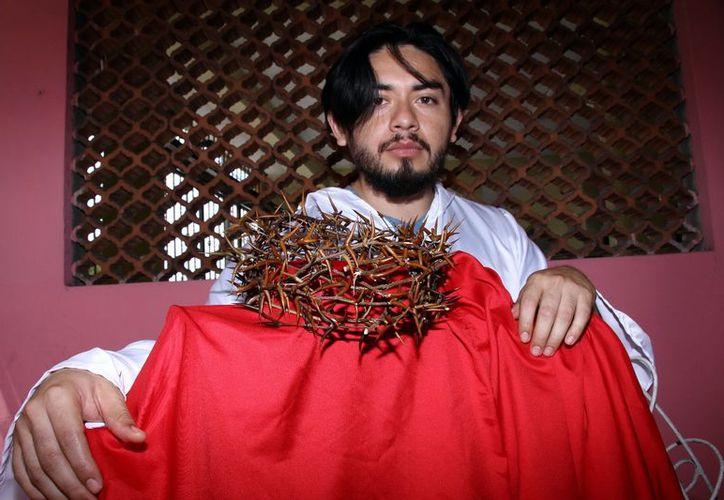 Armando Cáceres personificará a Jesús en Pacabtún. (Jorge Acosta/ Milenio Novedades)
