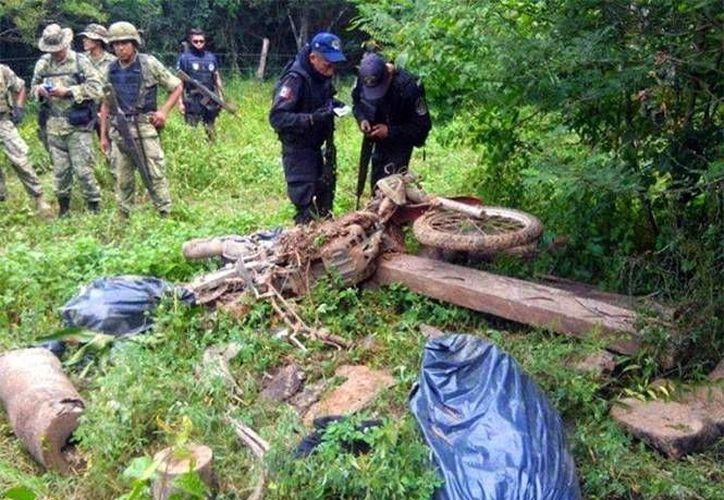 Los restos humanos que podrían corresponder al motociclista trotamundos Harry Devert fueron hallados en un camino que conduce a Majahua. (excelsior.com.mx)