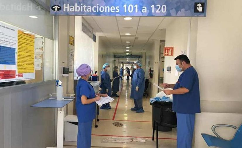 La entidad con la ocupación total de cuidados intensivos al 23 por ciento y la ocupación de camas de hospitalización total al 47 por ciento. (Foto: Hraepy)