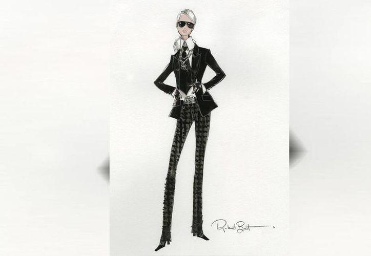 """Sin abandonar su estilizada silueta, """"Barbie Lagerfeld"""" portará la indumentaria y accesorios característicos del diseñador alemán. (EFE)"""