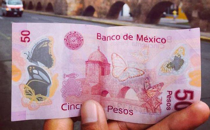 El billete de 50 tiene impreso el Acueducto de Morelia. (Facebook: I like México)
