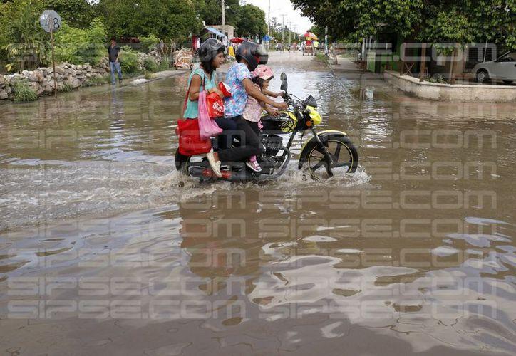 En el centro de la ciudad las tormentas ocasionaron inundaciones en diversos fraccionamientos, e inmediaciones de Plazas Comerciales. (José Acosta/Milenio Novedades)