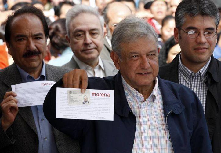 """López Obrador dijo previamente que la multa es una """"maniobra burda"""" del IFE. (Archivo/Notimex)"""