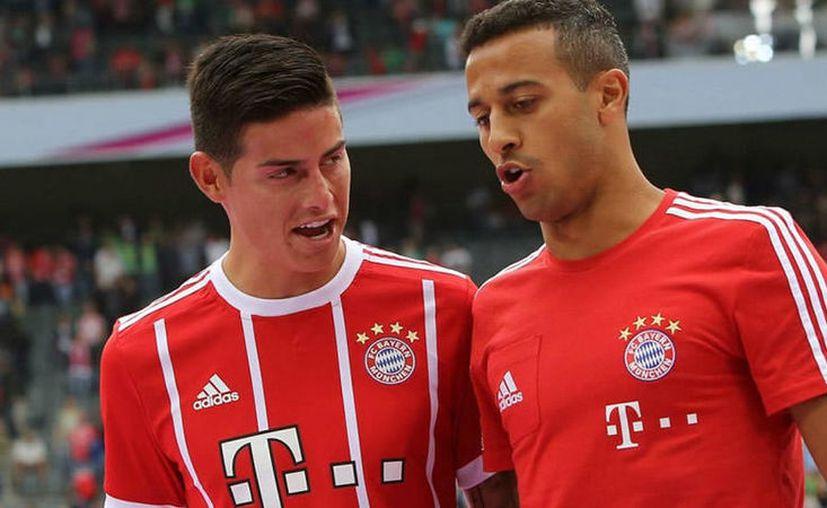 La estancia de James Rodríguez en el Bayern Munich era color de rosa hasta el martes. (Bayern).