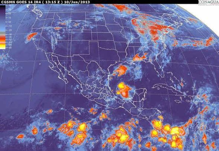 Soplarán vientos del noreste y sureste de 20 a 40 km/h. (smn.cna.gob.mx)