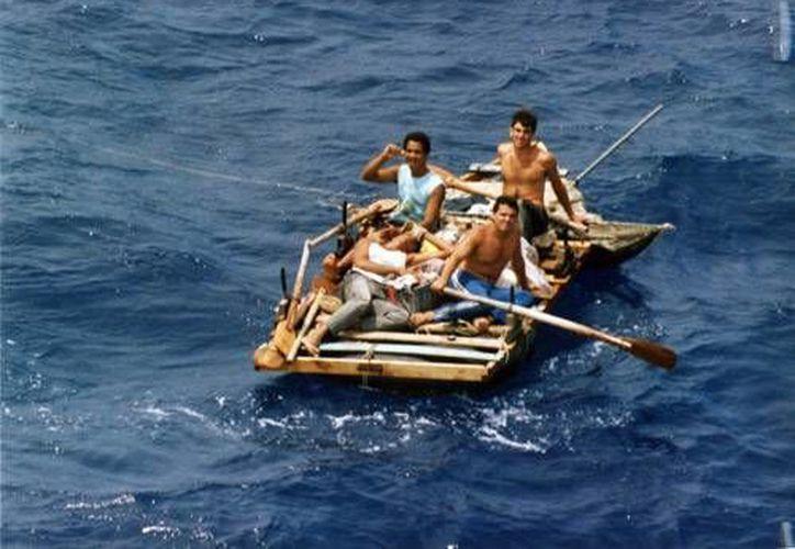 Este año han sido varios los rescates de balseros cubanos en Yucatán. (SIPSE)
