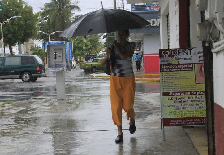 Las precipitaciones pluviales podrían alcanzar de 80 a 90 milímetros de agua. (Harold Alcocer/SIPSE)