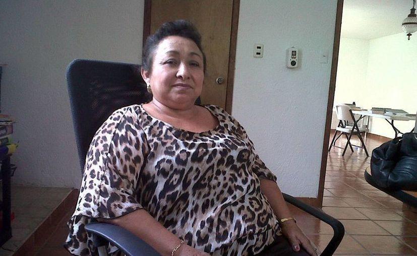 La alcaldesa de Tahmek, Martha Patricia Silveira, dice que su municipio es uno de los más castigados. (SIPSE)