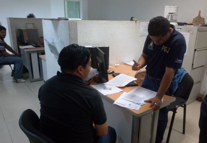 Moisés N, de 35 años, acudió a interponer su denuncia ante el Ministerio Público. (Eric Galindo/SIPSE)