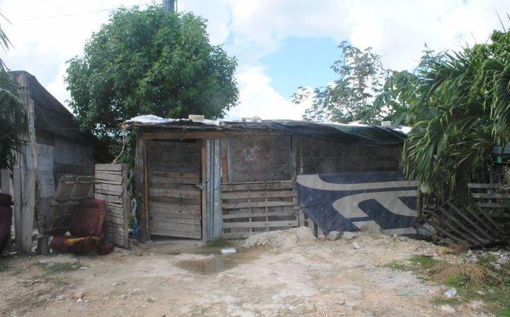 La vivienda que rafaguearon se encuentra en la colonia La Jungla. (Eric Galindo/SIPSE)