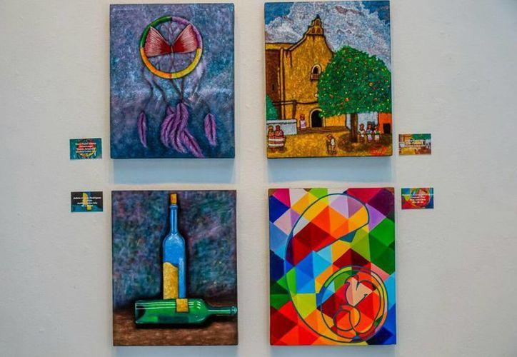 Exposición de obras en el Museo de la Cultura Maya (Redacción/SIPSE)