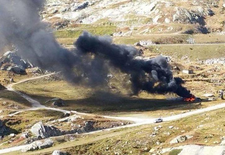 El helicóptero era parte de una inspección de la Organización de Seguridad y Cooperación en Europa.(twitter.com/HelipressIt)