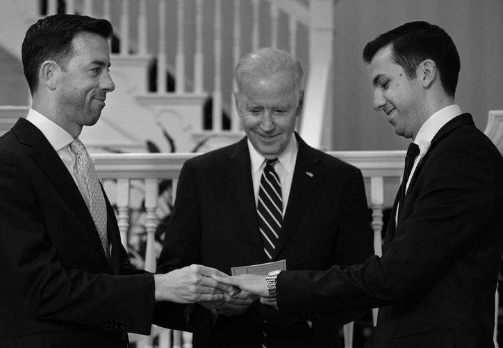 Joe Biden fue uno de los primeros políticos estadounideses que apoyó abiertamente el matrimonio homosexual. (The White House)