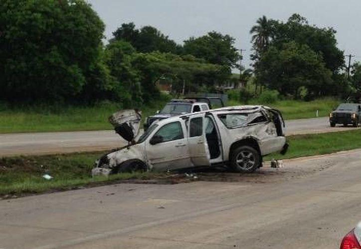 La carretera estaba mojada, debido a las condiciones climatológicas. (Isabel Zamudio/Milenio)