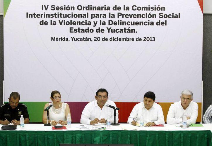 Marco de la IV Sesión Ordinaria de la Comisión Interinstitucional para la Prevención Social de la Violencia y la Delincuencia del Estado. (Milenio Novedades)