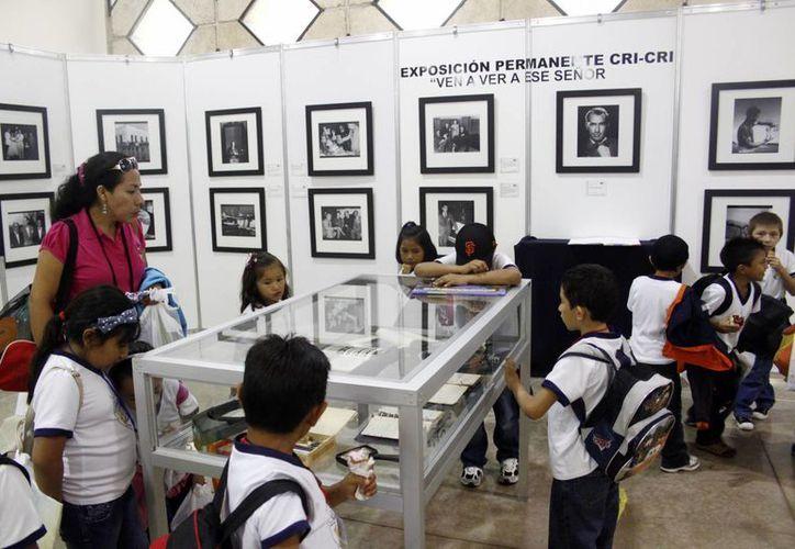 Como parte de la Feria hay recorridos escolares. (SIPSE/Christian Ayala)