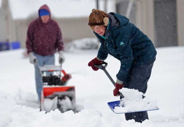 Dos ciudades en el noreste de Wisconsin, Tigerton y Big Falls, registraron más de 61 centímetros de nieve. (Foto: AP)