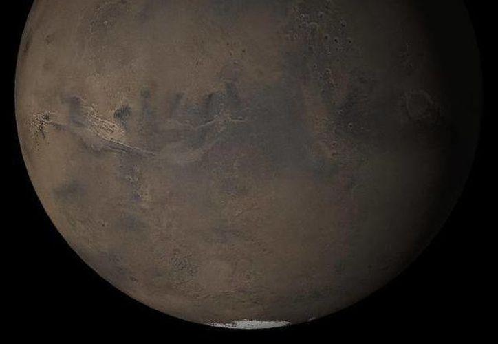 La imagen muestra, según la NASA, la primavera en el planeta Marte. (nasa.gov)