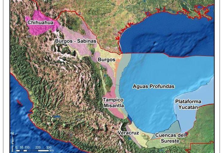 Distribución de los recursos de hidrocarburos en México. (energia.gob.mx)
