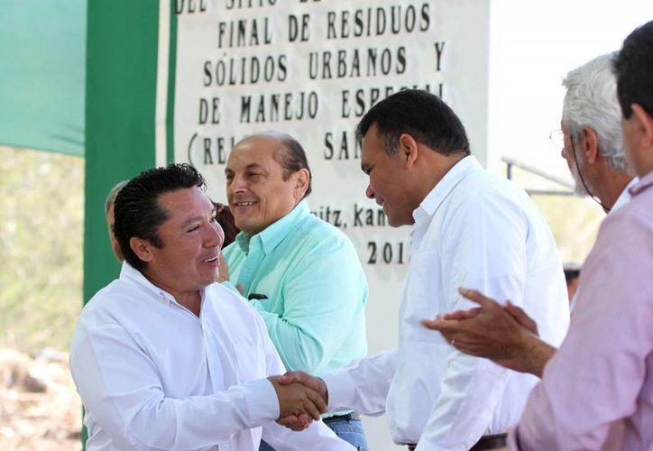 Ayer, el Gobernador inauguró el relleno sanitario en Kanasín. (Cortesía)