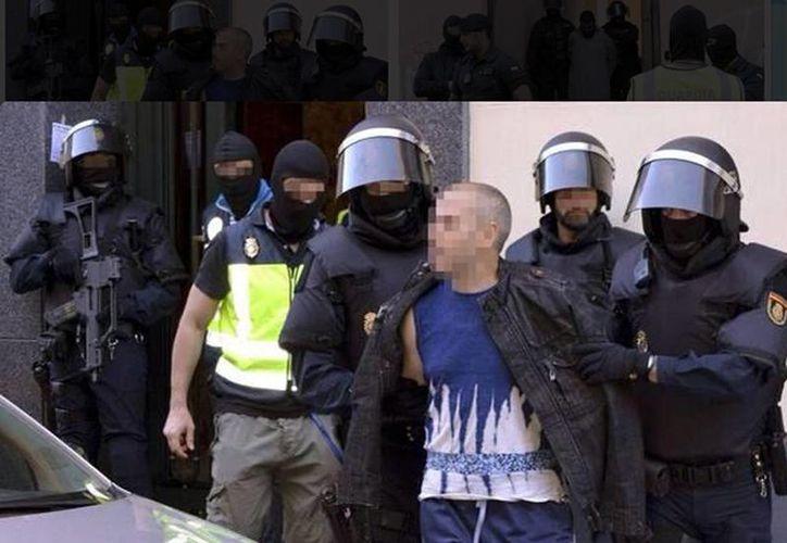 Yihadista detenido en España.(twitter.com/VieyraAlejandro)