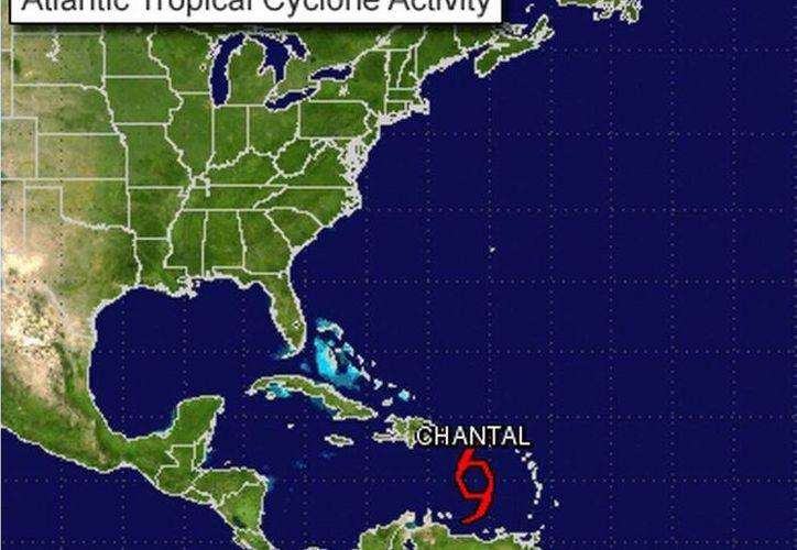 Se prevé que la tormenta 'Chantal' atraviese la isla de La Española. (nhc.noaa.gov)