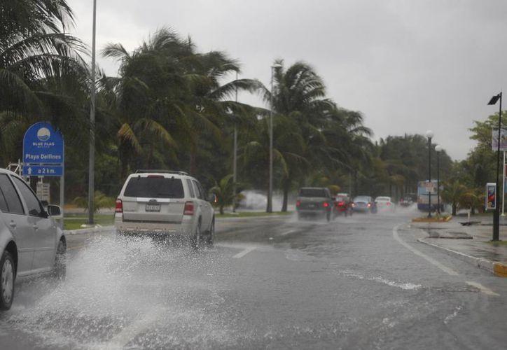 Las lluvias iniciaron desde hace varios días. (Israel Leal/SIPSE)