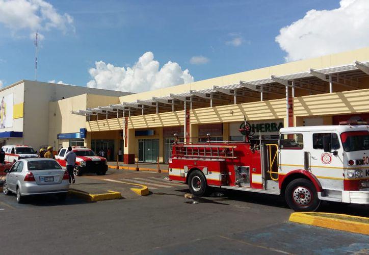 Los bomberos entraron al lugar y luego de realizar una minuciosa inspección observaron que presuntamente se trató de un corto circuito. (SIPSE)
