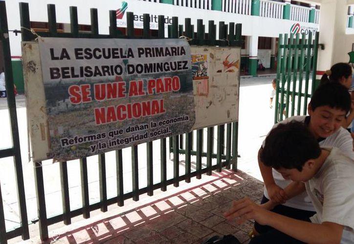 Alrededor de 30 escuelas de educación básica, no tendrán clases hoy. (Gerardo Amaro/SIPSE)