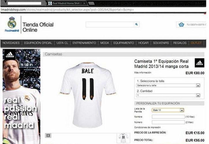 Por unos minutos, el sitio web lució el número 11 de Gareth Bale. (foxsportsla.com)