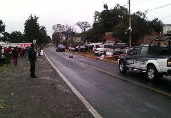 El enfrentamiento ocurrió cerca del paraje conocido como Las Palmillas, en el municipio de San Matías Tlalancaleca, Puebla. (Pedro Alonso/Milenio)
