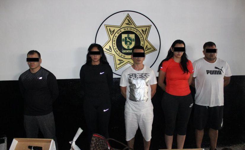 Los sospechosos al momento de su detención. (Foto: Archivo/Sipse)