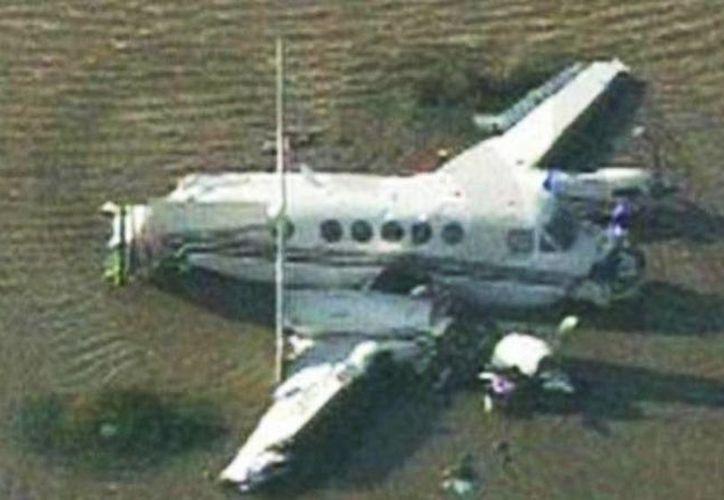 Encontraron a los sobrevivientes sobre el fuselaje de la aeronave al momento de ser rescatados. (elcomercio.pe)