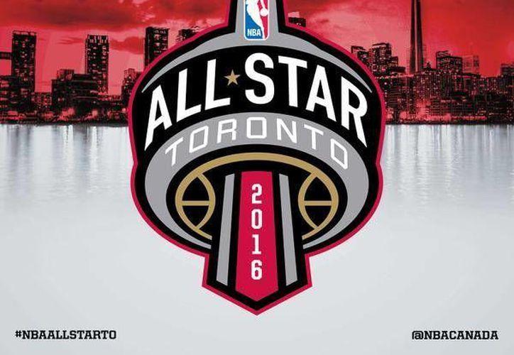 El logotipo del Juego de Estrellas de NBA para 2016 cuenta con detalles canadienses pues se llevará a cabo en ese país. (Twitter NBA)